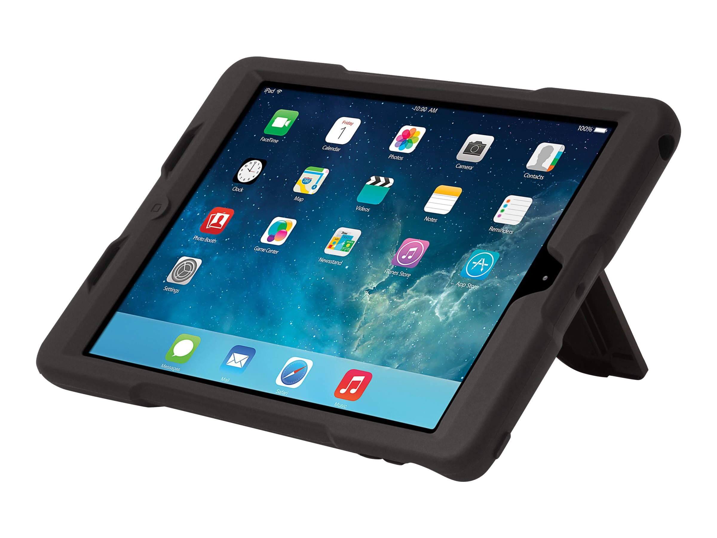 Kensington BlackBelt 2nd Degree Rugged Case for iPad Air, Black, K97065US