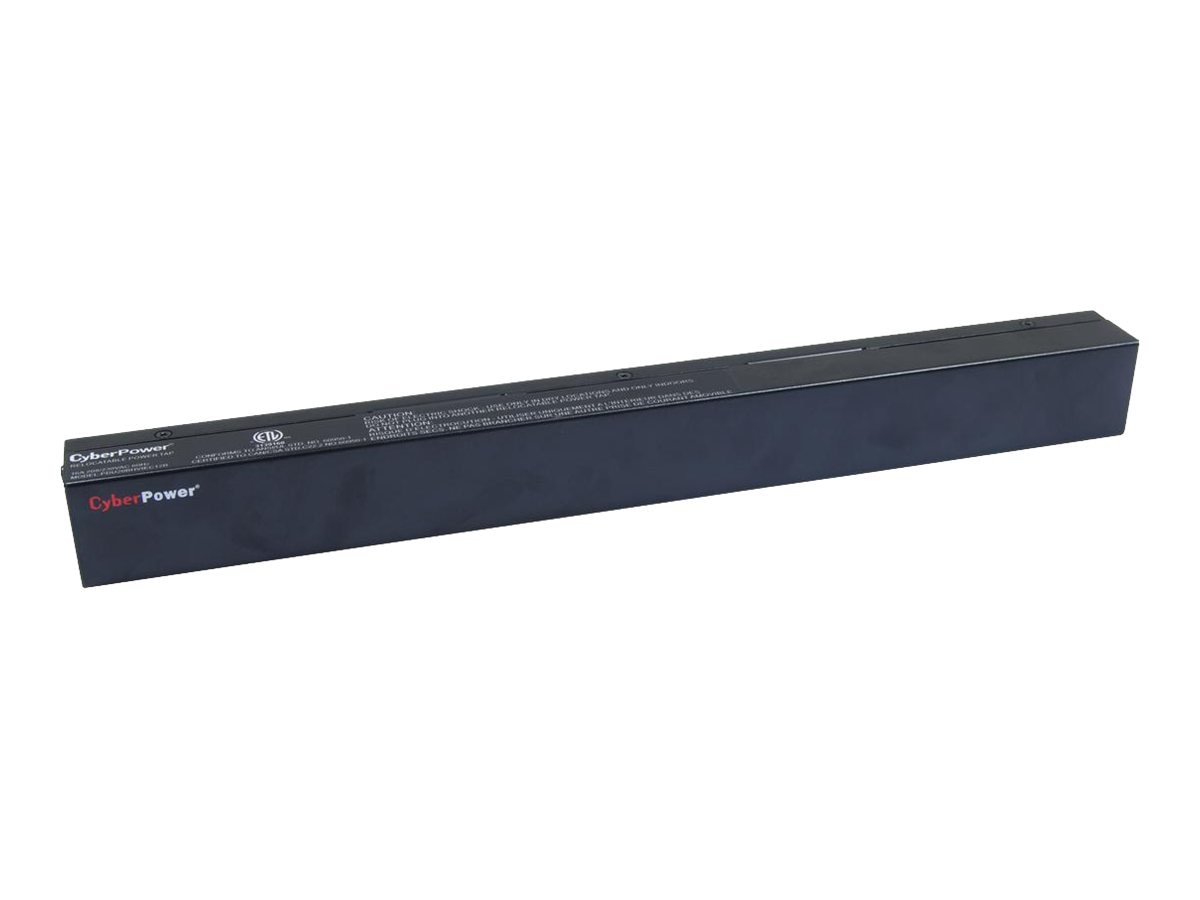 CyberPower Basic PDU 208V 20A 1U C20 Input, 10ft Cord, (10) C13 Outlets, PDU20BHVIEC10R, 11263826, Power Distribution Units