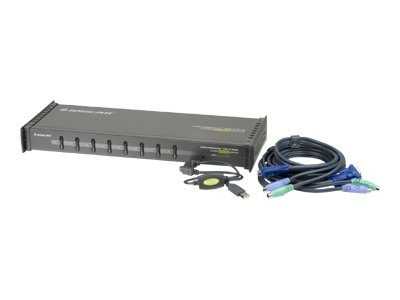 IOGEAR 8-Port KVM Switch w  USB & PS 2 Cables, GCS138KITUP