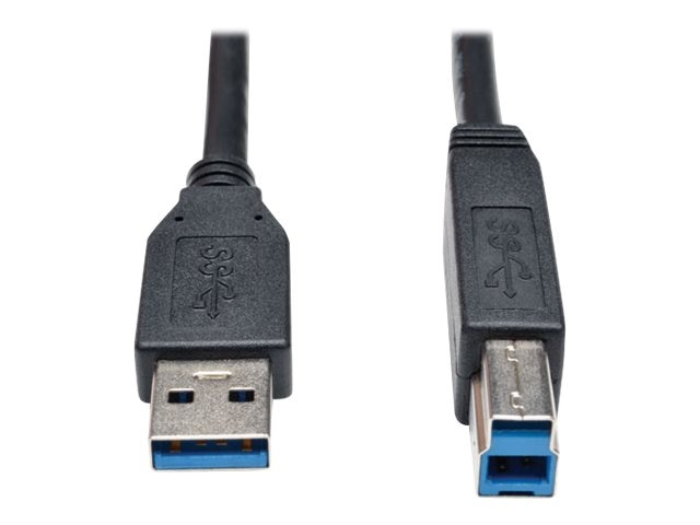 Tripp Lite USB 3.0 Type A to Type B M M Cable, Black, 10ft, U322-010-BK, 17455415, Cables