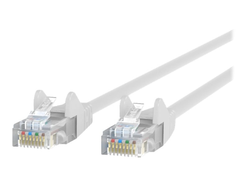 Belkin Cat6 UTP Patch Cable, White, Snagless, 7ft