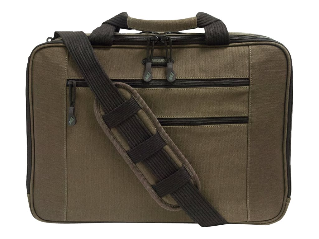 Mobile Edge Canvas Eco Briefcase for Mac, 16 17, MECBC9, 17469382, Carrying Cases - Notebook