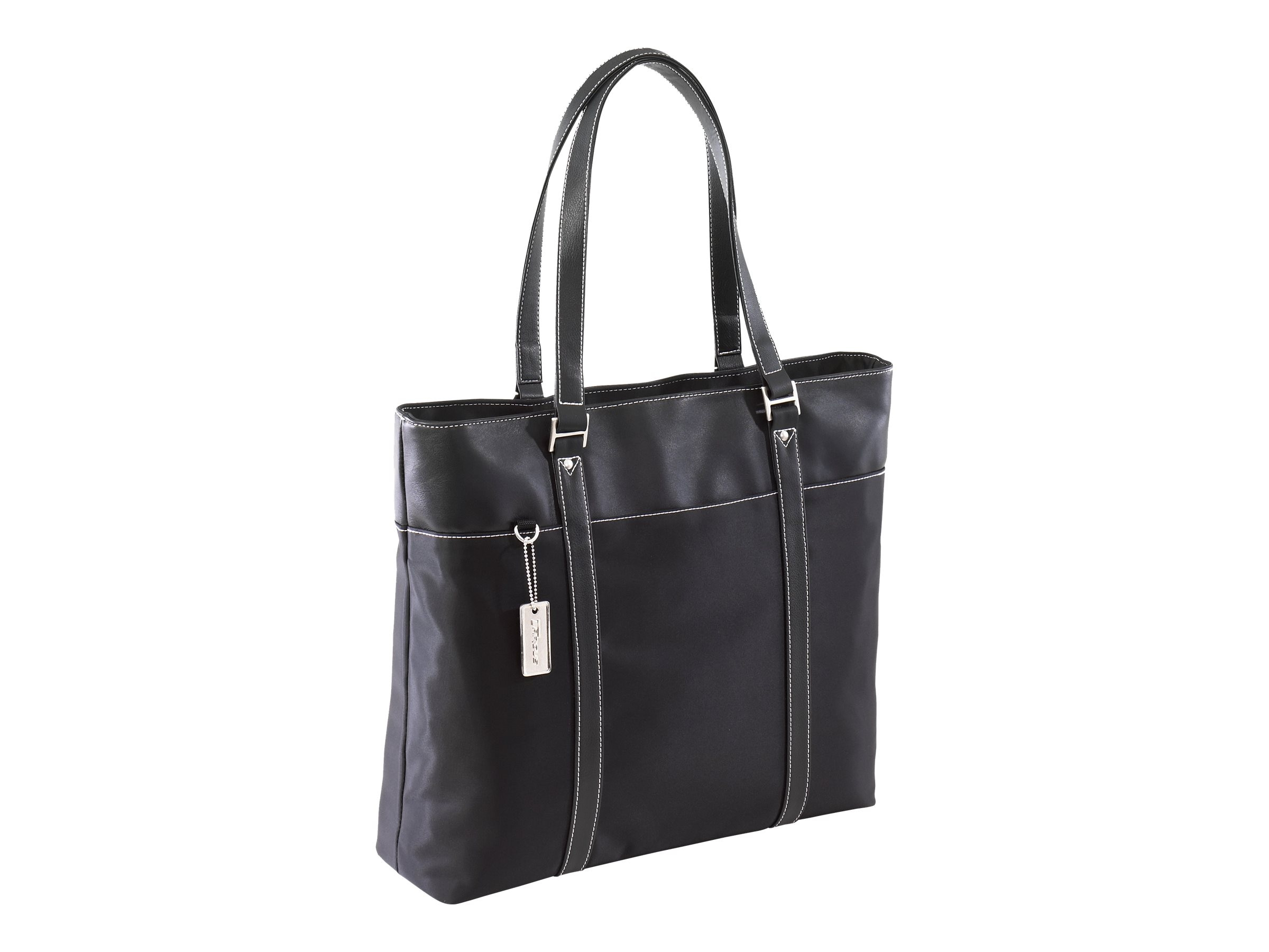 Targus Ladies Nylon Twill Deluxe Tote, 15.4 Notebook, Black