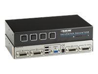 Black Box ServSwitch Secure KVM Switch w  USB, EAL2+ EAL4+ Certified TEMPEST Level I Qualified, VGA, 4-Port