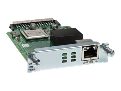 Cisco 1-port 3Gen. Multiflex Trunk Voice WAN Interface Card T1 E1, VWIC3-1MFT-T1/E1=, 13036248, Network Voice Router Modules
