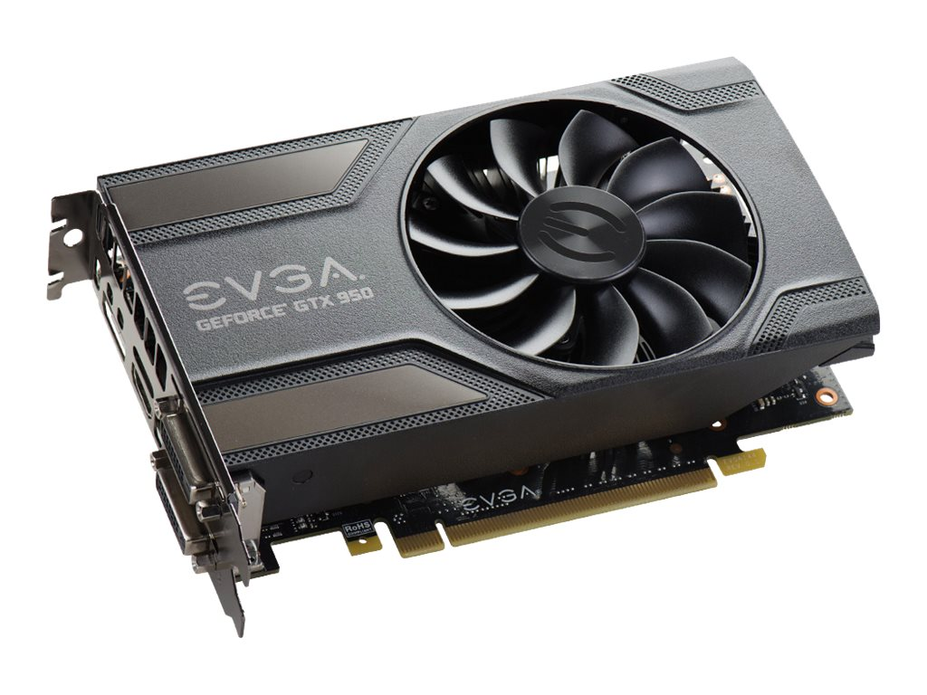 eVGA GeForce GTX 950 SC Gaming PCIe 3.0 x16 Graphics Card, 2GB GDDR5, 02G-P4-1958-KR