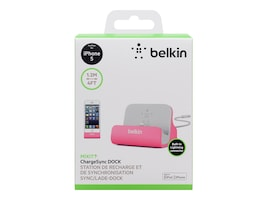 Belkin Mixit ChargeSync Dock for iPhone 5 6 6 Plus, Pink, F8J045BTPNK, 24281134, Cellular/PCS Accessories - iPhone