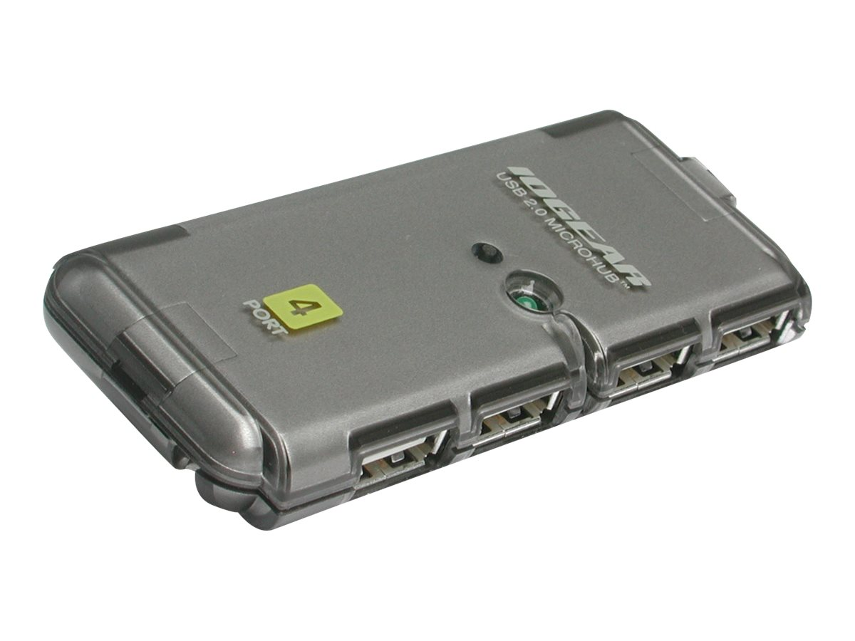 IOGEAR 4-Port Hi-Speed USB 2.0 MicroHub, GUH274