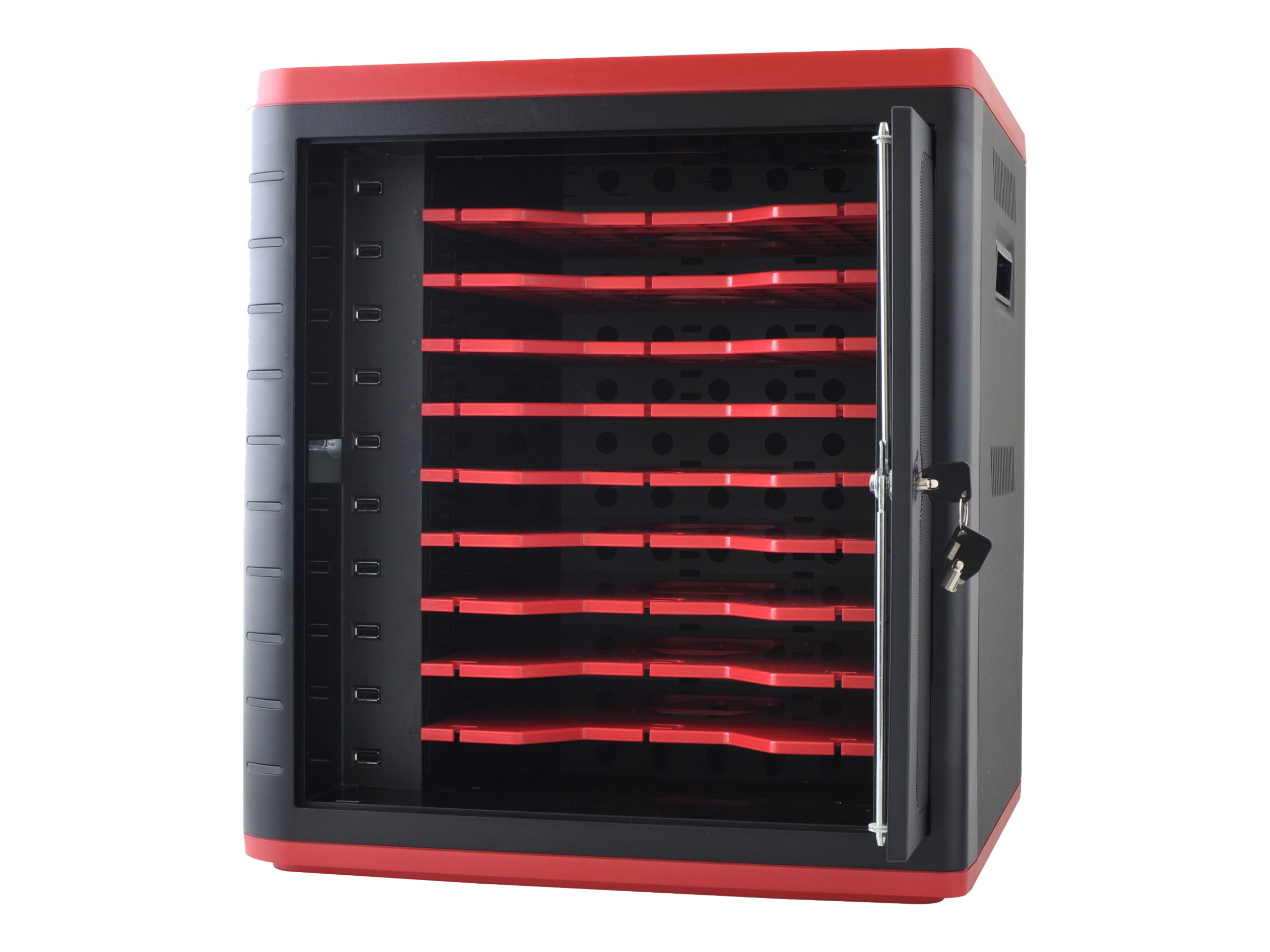 Codi 10-Unit Tablet Charge and Sync Station, Black Red