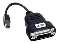 Accell UltraAV Mini DisplayPort to DVI-D SL Active Adapter, 10in, B087B-006B, 11972526, Adapters & Port Converters