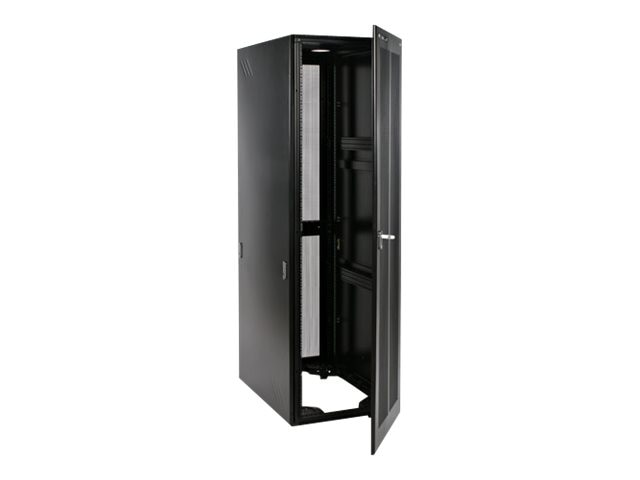 StarTech.com 42U x 36 Server Rack Cabinet w  Steel Mesh Door, Black, RK4236BK