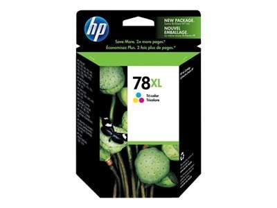 HP 78XL (C6578AN) High Yield Tri-color Original Ink Cartridge, C6578AN#140, 9440580, Ink Cartridges & Ink Refill Kits