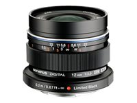 Olympus M.ZUIKO Digital ED 12mm f 2.0 Lens, Black