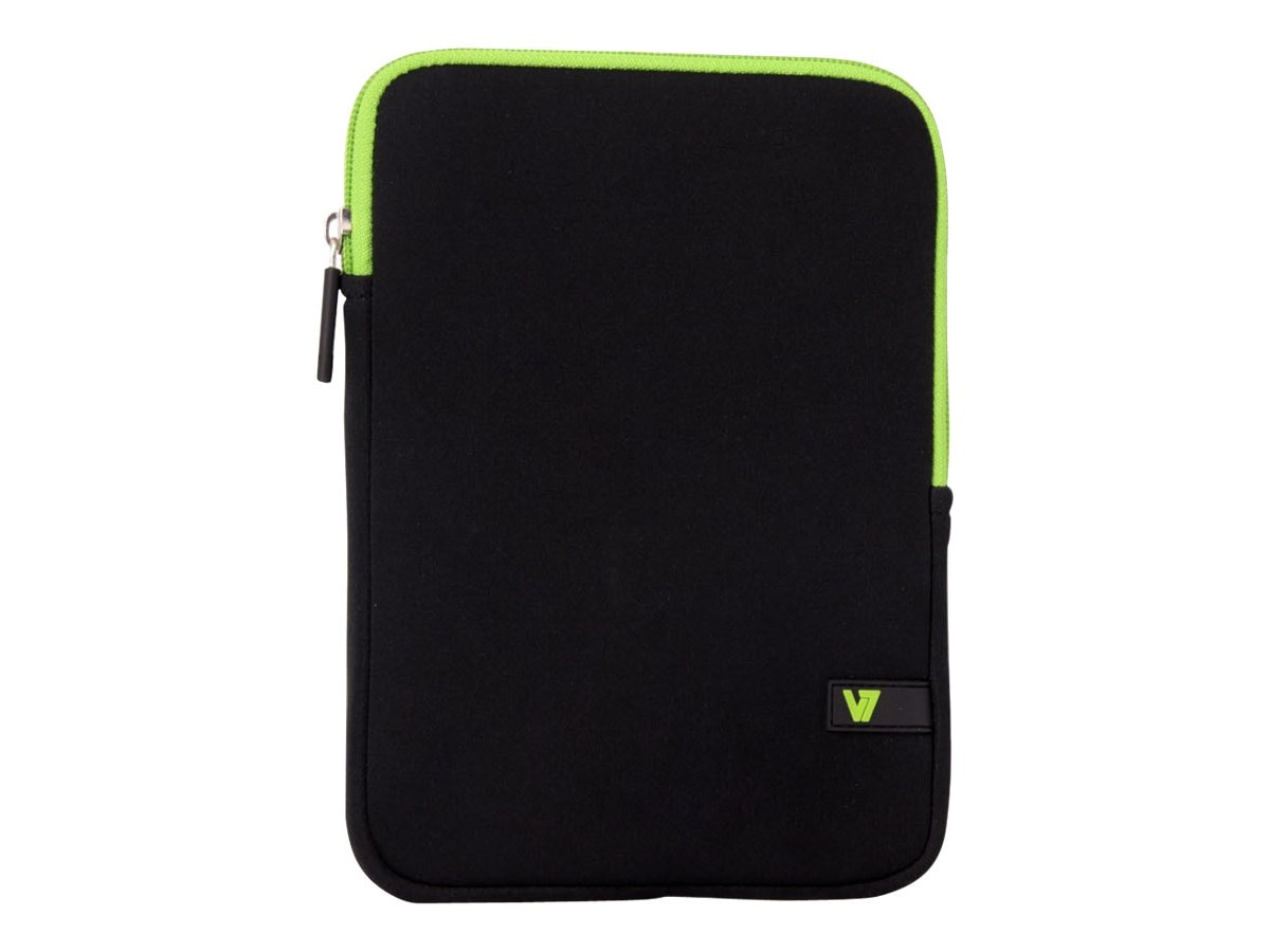 V7 Ultra Protective Sleeve for Tablet 8, iPad mini Retina Display, Black Green, TDM23BLK-GN-2N