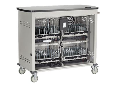 Black Box 18-Unit Laptop Charging Cart with Hinged, Locking Door, UCCDL18H, 16004639, Computer Carts