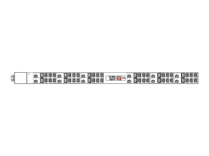 Raritan PDU 415V 63A 3-ph Wye IEC 60309 Input (36) C13 (12) C19 Outlets, PX2-4782V-V2, 30620788, Power Distribution Units