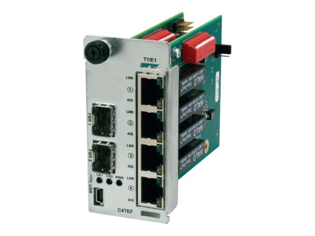 Transition 4XT1E1 without Ethernet 2-SFP, C4TEF1040-140, 13865759, Network Transceivers