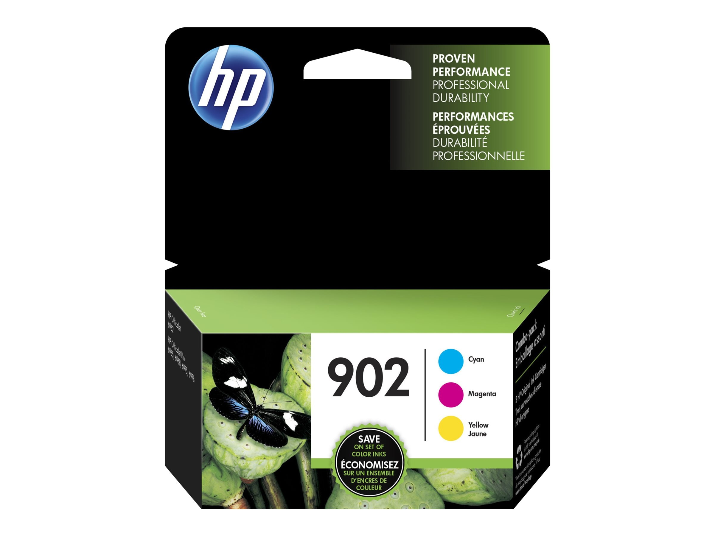 HP 902 (T0A38AN) Cyan Magenta Yellow Original Ink Cartridges (3-pack)