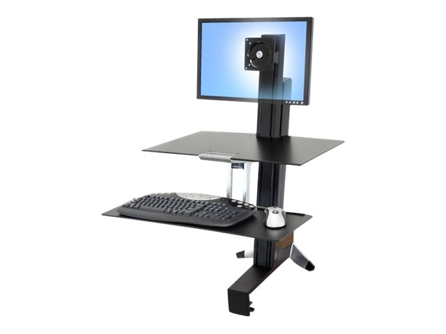 Ergotron WorkFit-S, Single LD with Worksurface+, 33-350-200, 13673651, Ergonomic Products