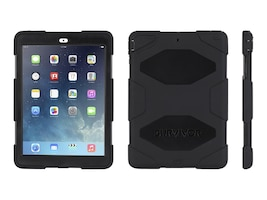 Griffin Survivor All-Terrain for iPad Air, Black, GB36307-2, 17700644, Carrying Cases - Tablets & eReaders