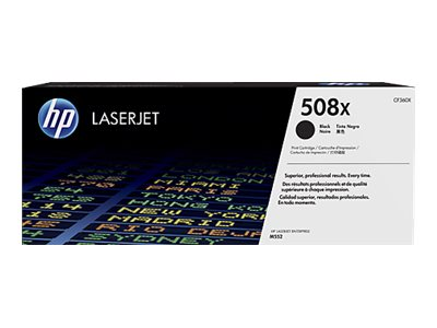 HP 508X High Yield Black LaserJet Toner Cartridge w  JetIntelligence for M552 M553 series, CF360X, 19055351, Toner and Imaging Components