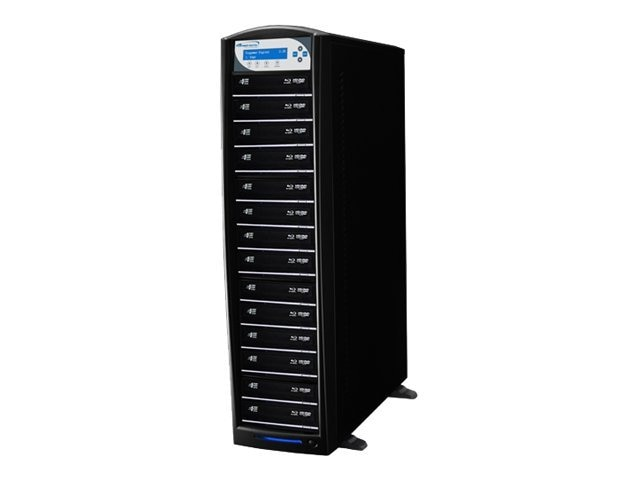 Vinpower SharkBlu Blu-ray XL DVD CD USB 1:14 Tower Duplicator w  Hard Drive, SHARKBLU-S14T-XL-BK, 15129579, Disc Duplicators