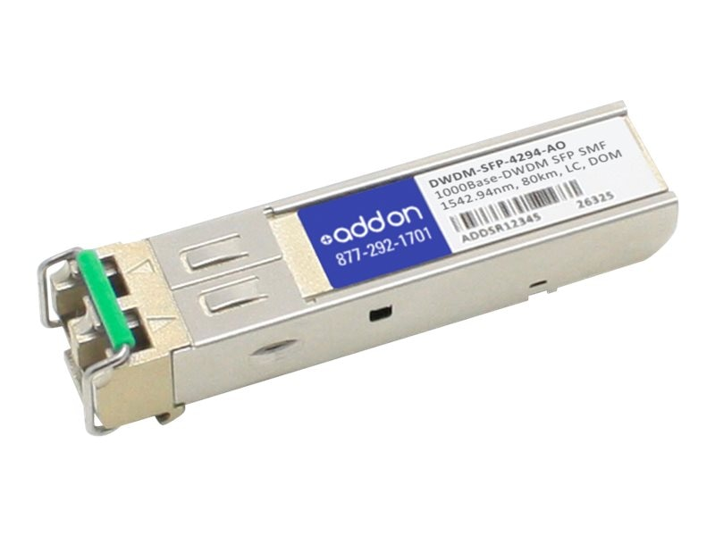 ACP-EP 1000BASE-DWDM SMF SFP 1542.94NM 100G ITU Grid Ch. 43 40KM for Cisco, DWDM-SFP-4294-AO