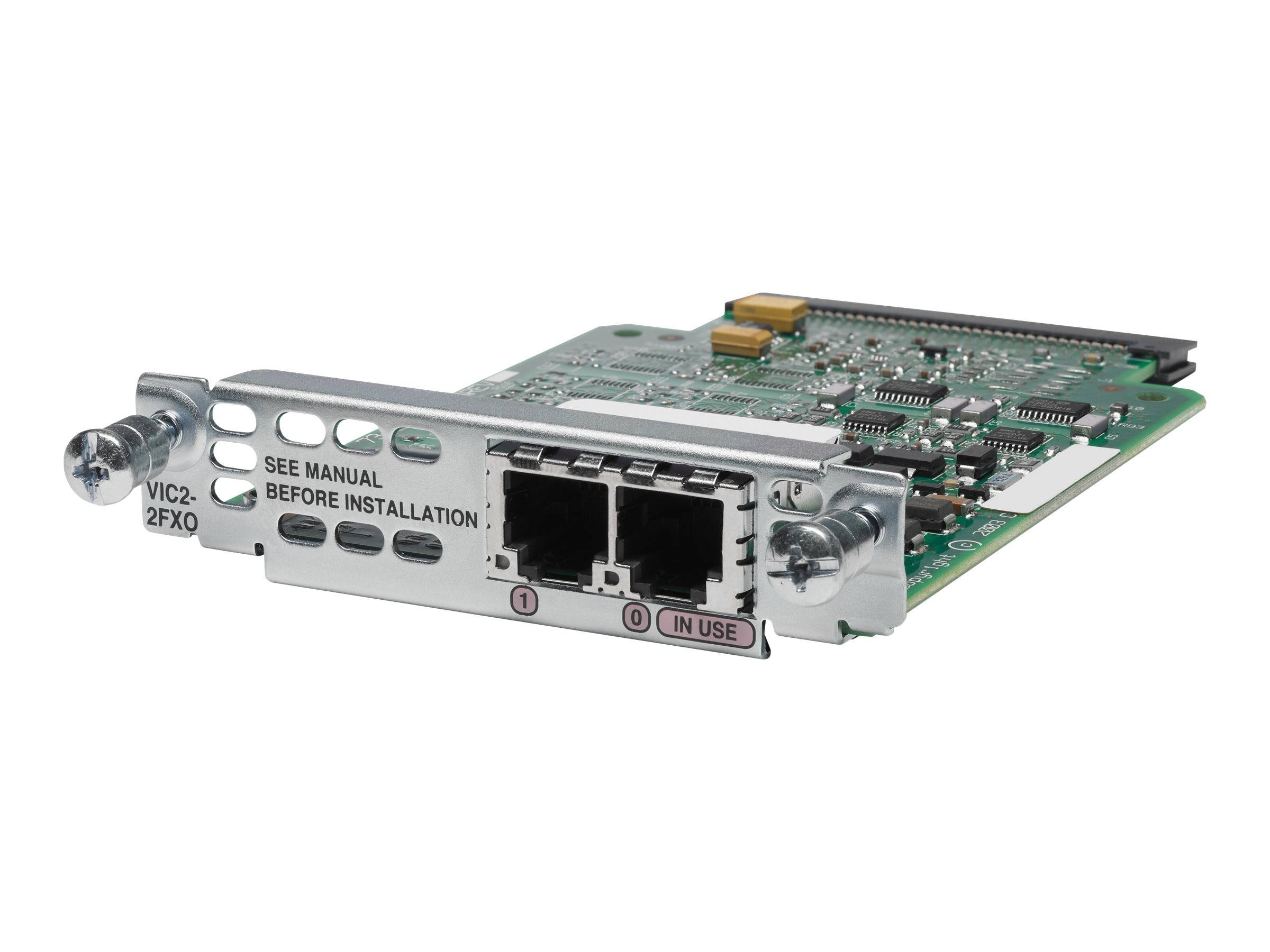 Cisco 2-port Voice Interface Card FXO   Universal, VIC2-2FXO=, 5061304, Network Voice Router Modules