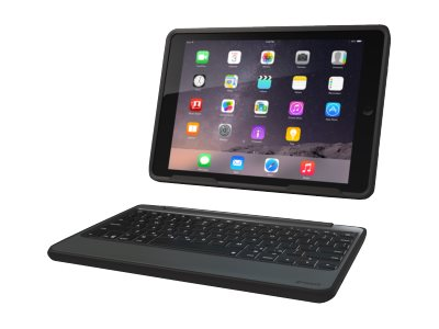Zagg Rugged Book Keyboard Folio Case for iPad Air 2, Black, ID6RGK-BB0, 18368401, Keyboards & Keypads