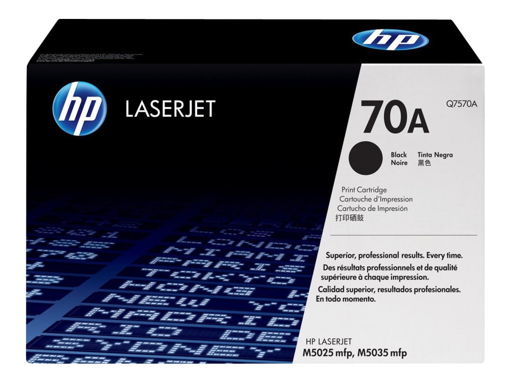 HP 70A (Q7570A) Black Original LaserJet Toner Cartridge for for HP LaserJet M5035 MFP Series
