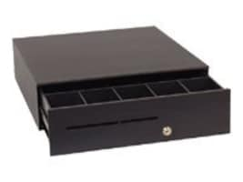APG S100 Drawer 16x16 24V 5-bill 5-coin Till Cable Req, Black, T320-BL1616, 15659511, Cash Drawers