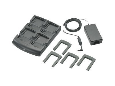 Zebra Symbol Battery Charger Kit, 4-Slot Charger, Power Supply, SAC7X00-401CES