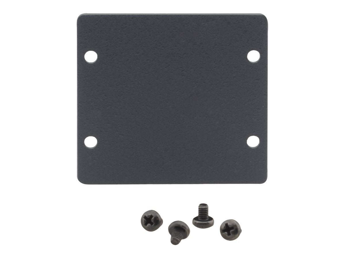Kramer Double Blank Slot Cover Plate, Black, W-2BLANK, 19417615, Mounting Hardware - Miscellaneous