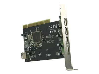Rosewill 4+1 Port USB 2.0 PCI Controller Card, RC-101, 16322266, Controller Cards & I/O Boards