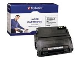 Verbatim Black Verbatim Toner Cartridge for HP LaserJet 4250 and 4350 Series Printers, 95382, 6764634, Toner and Imaging Components