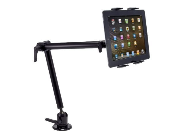 Arkon Heavy-Duty Drill-Base Tablet Mount with 22 Arm for iPad Air, iPad, Galaxy Note 10.1