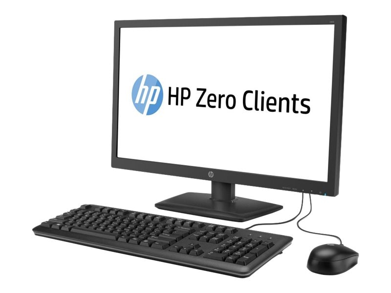 HP t310 AIO Zero Client PCoIP TERA2321 512MB RAM 32MB Flash GbE 23.6 LED NoOS, J2N80AT#ABA, 17808612, Thin Client Hardware