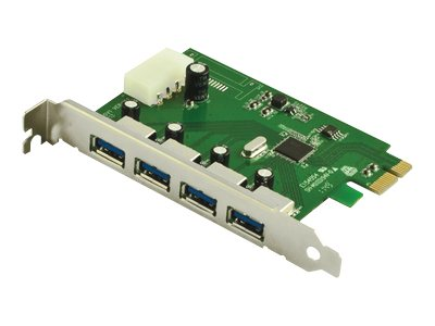 VisionTek Connect Series USB 3.0 4-port PCIe Host Adapter Card, 900544