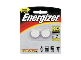 Energizer Battery, Lithium 2025 Watch Coin-type 3V 163mAh (2-pack), 2025BP-2, 9567652, Batteries - Other