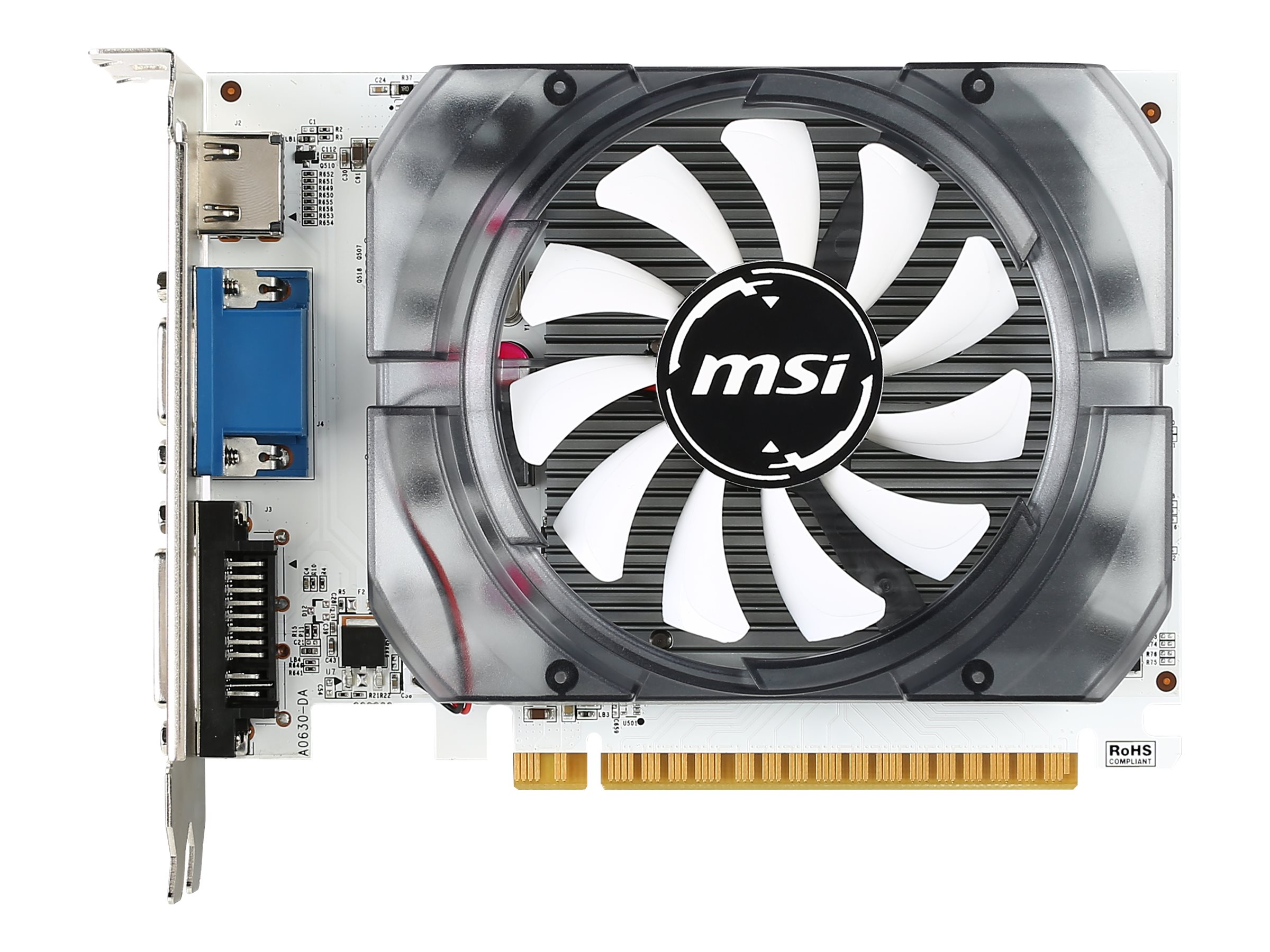 Microstar NVIDIA GeForce GT 730 PCIe 2.0 x16 Graphics Card, 4GB DDR3
