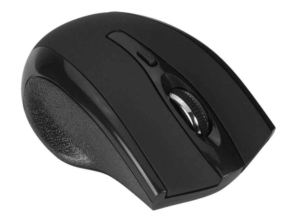 Siig Ergonmic Wireless 6-button Mouse, Black, JK-WR0A12-S2