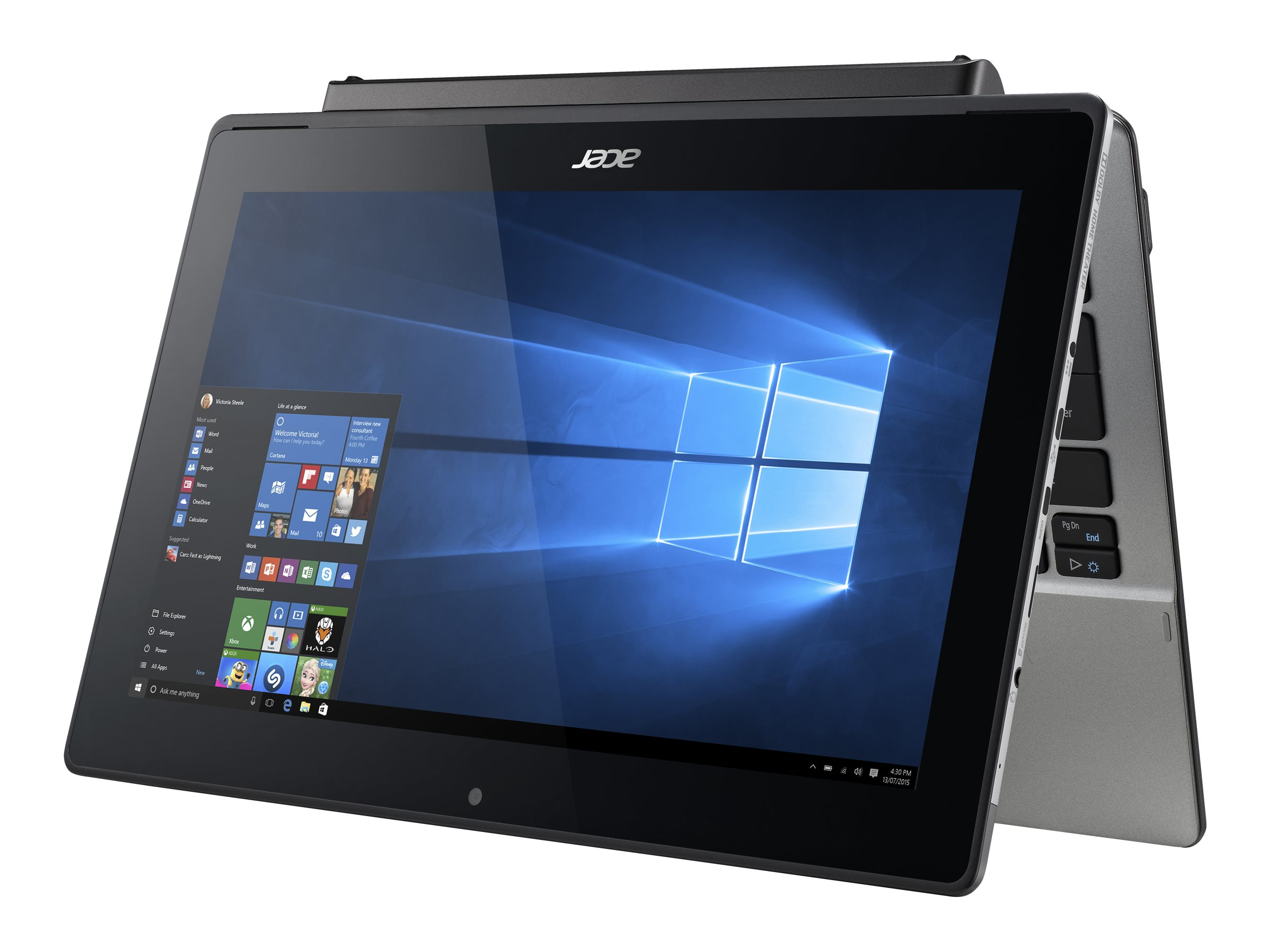 Acer Aspire Switch SW5-173P-61RD Core m-5Y10c 0.8GHz 4GB 128GB SSD ac BT 2xWC Kyb Pen 11.6 FHD MT W10P64, NT.G9GAA.001, 31786624, Notebooks - Convertible