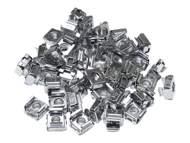 StarTech.com 50 Pkg M5 Cage Nuts for Server Rack Cabinets, CABCAGENUTS