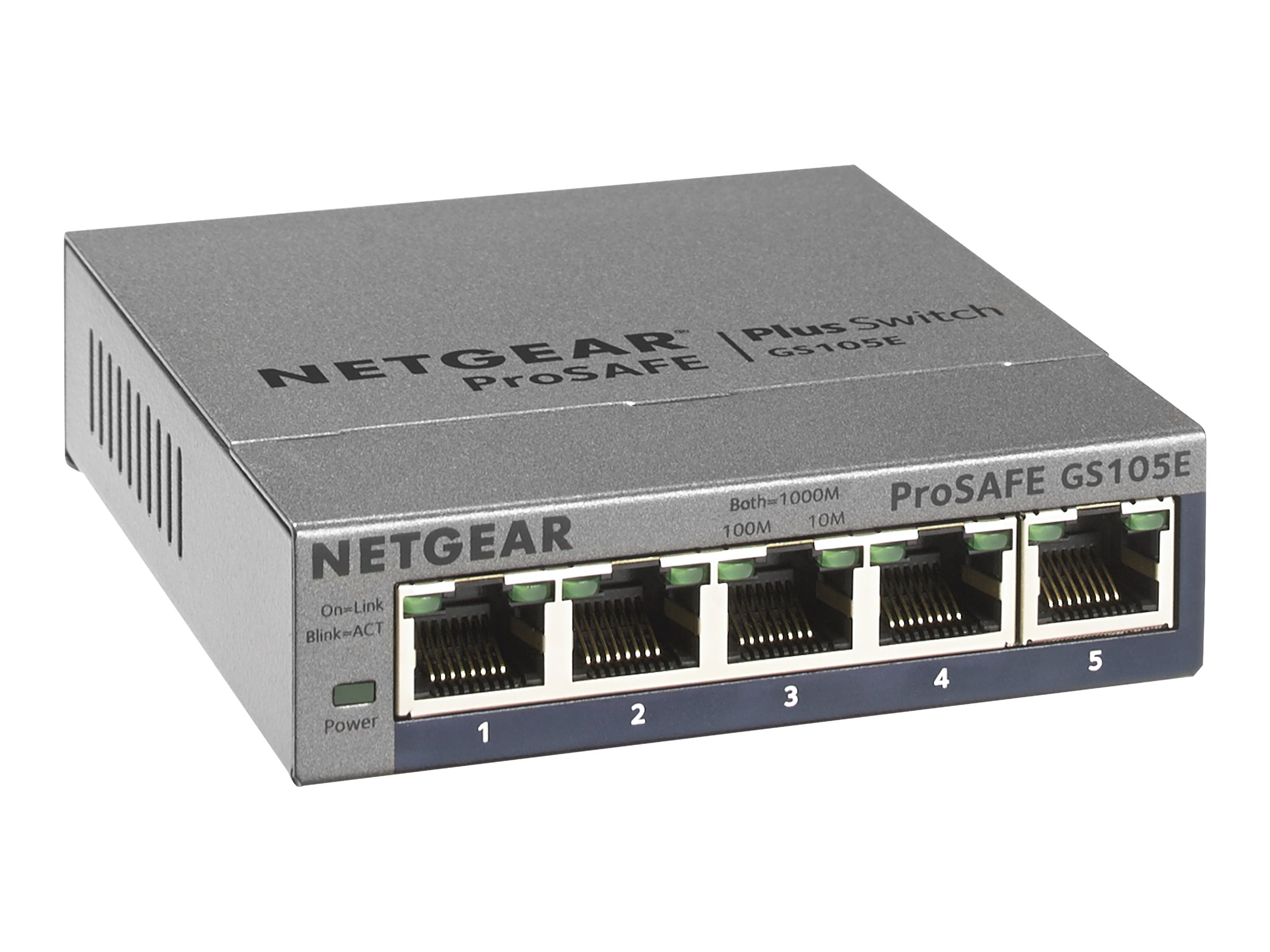 Netgear ProSafe Plus 5-Port GbE Switch, GS105E-200NAS