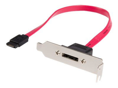 StarTech.com Low Profile SATA to e SATA Plate Adapter, 1ft, ESATAPLT1LP, 8955451, Adapters & Port Converters