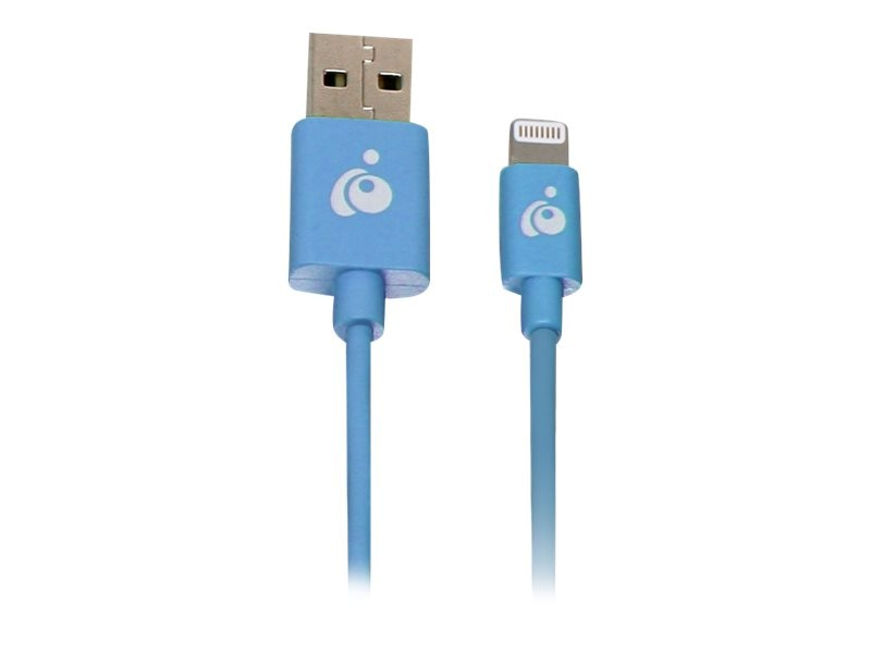 IOGEAR Reversible USB to Lightning Cable, Blue, 1m, GRUL01-BL