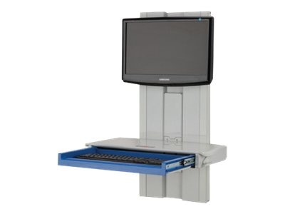 Rubbermaid A36 Premium Slim Line with No Tech Box CPU Mount, 1782692, 11992181, Cart & Wall Station Accessories