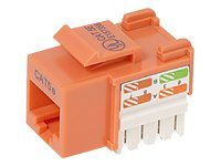 Belkin Cat5e Keystone Jack, 568A 568B, Orange, 25-Pack, R6D024-AB5EOR25, 7631067, Premise Wiring Equipment
