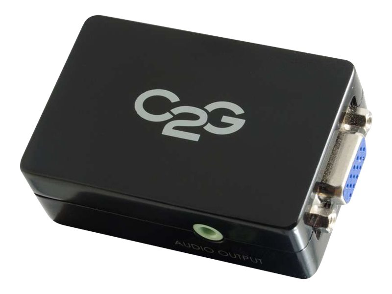 C2G Pro HDMI to VGA Converter with Audio, Black, 40714, 16128084, Adapters & Port Converters