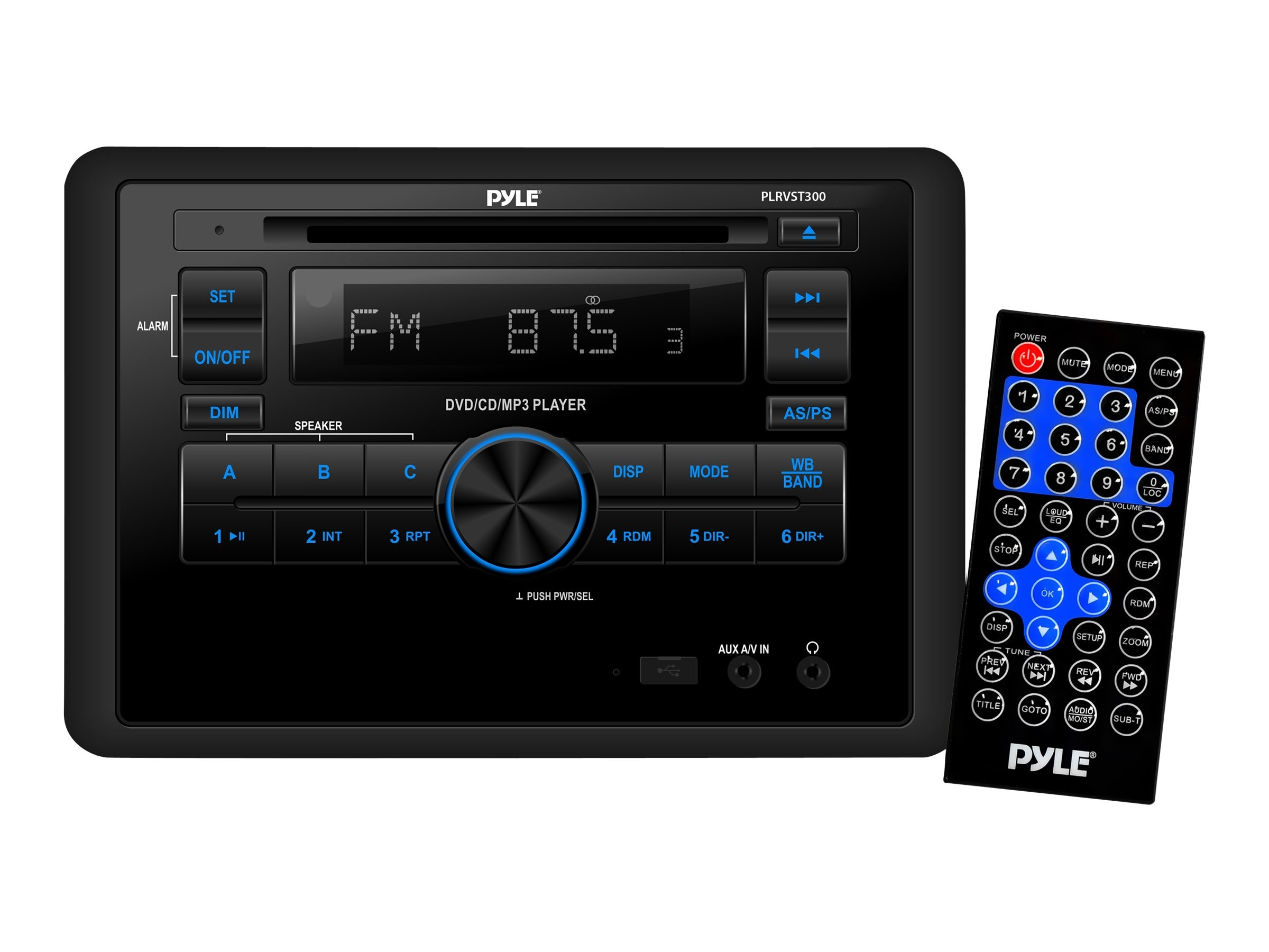 Pyle MARINE BT AUDIO VIDEO RCVR     PERPWATER RESISTANT A V STEREO HEADUNIT